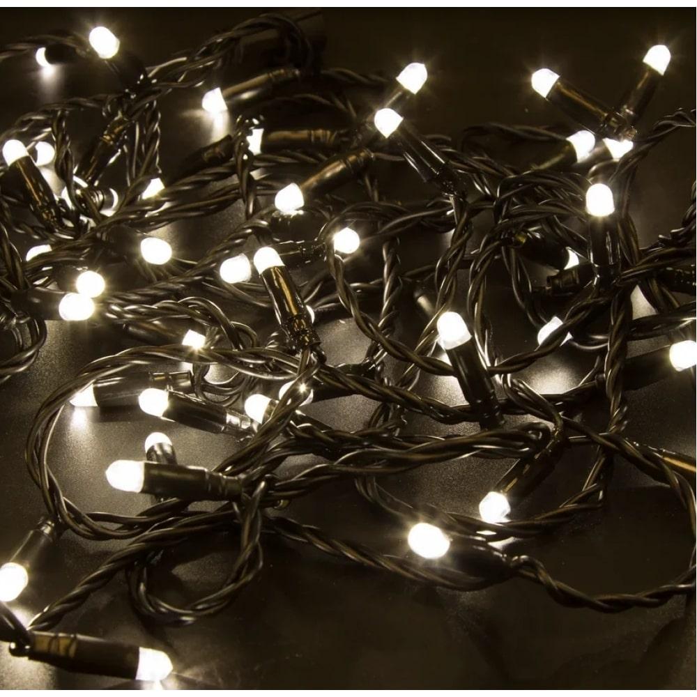 Купить Светодиодная гирлянда neon-night нить 10м 100 led, тёплый-белый, без комплекта подключения 305-146