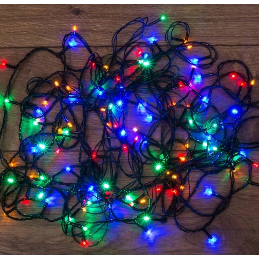 Светодиодная гирлянда neon-night твинкл-лайт 8 режимов, 15м, 300 led, мультиколор 303-109  - купить со скидкой