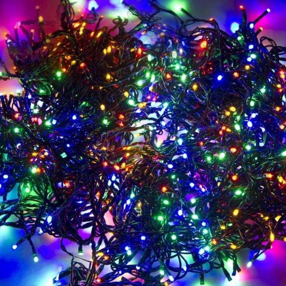 Купить Светодиодная гирлянда neon-night клиплайт 3 нити по 10м, 198 led, на черном проводе, мультиколор 323-319