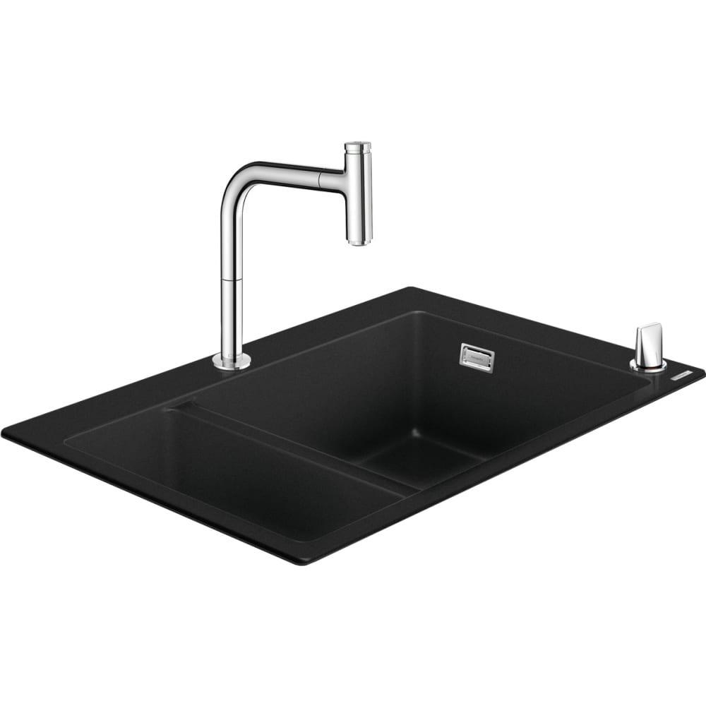 Кухонная мойка hansgrohe 43220000 c51-f635-09 со смесителем 00000061697
