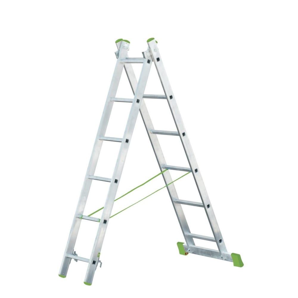 Купить Двухсекционная алюминиевая лестница rigger 2x9 101209