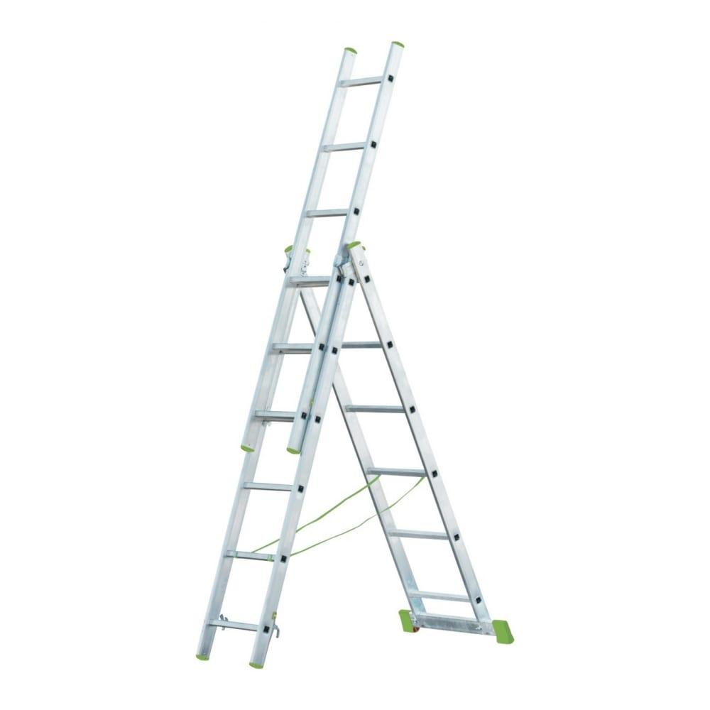 Купить Трехсекционная алюминиевая лестница rigger 3x16 101316