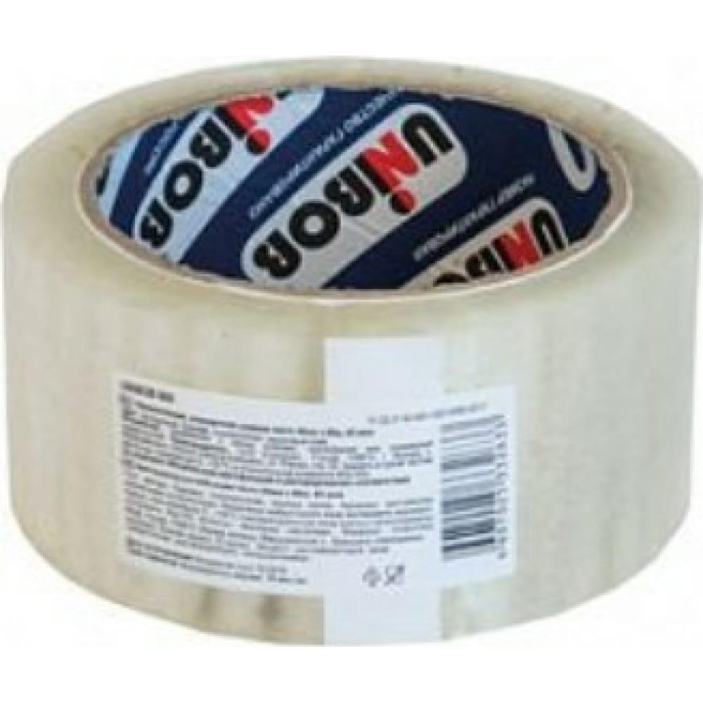 Купить Упаковочная клейкая лента unibob прозрачная 48 мм х 66 м 134838