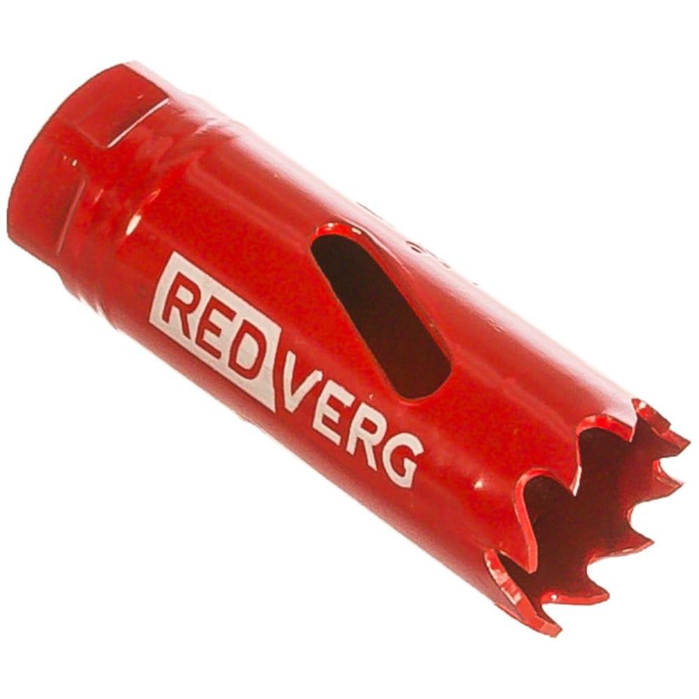 Коронка биметаллическая 19 мм redverg 6627096