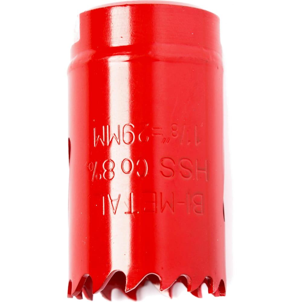 Коронка биметаллическая 29 мм redverg 6627101