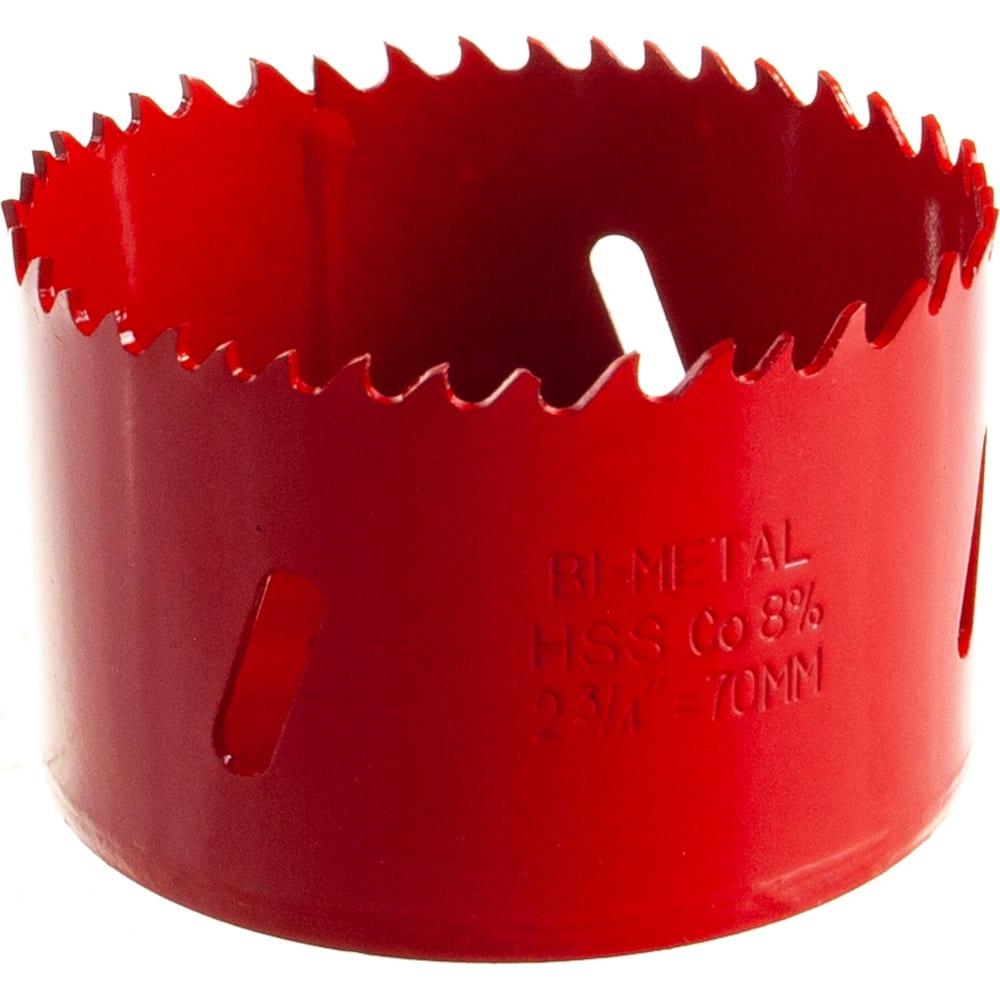 Коронка биметаллическая 70 мм redverg 6627118