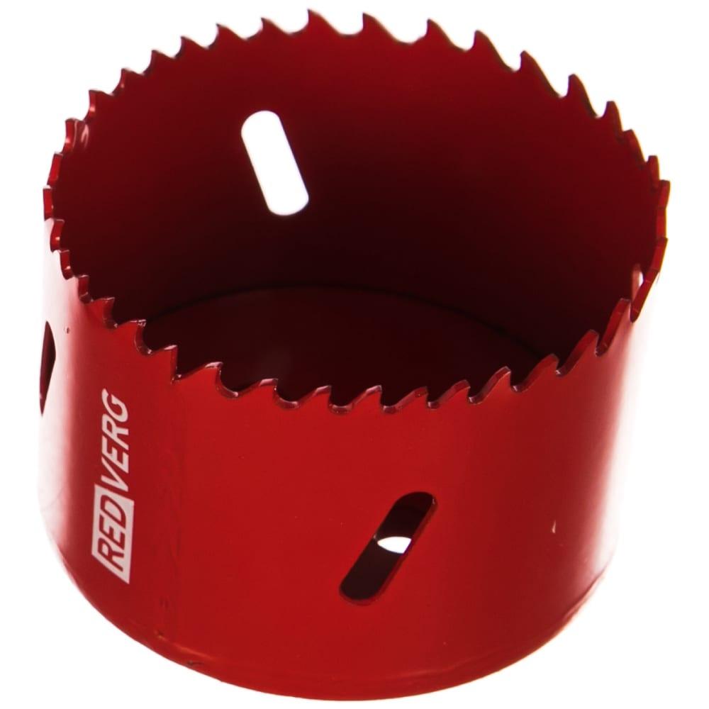 Коронка биметаллическая 67 мм redverg 6627116
