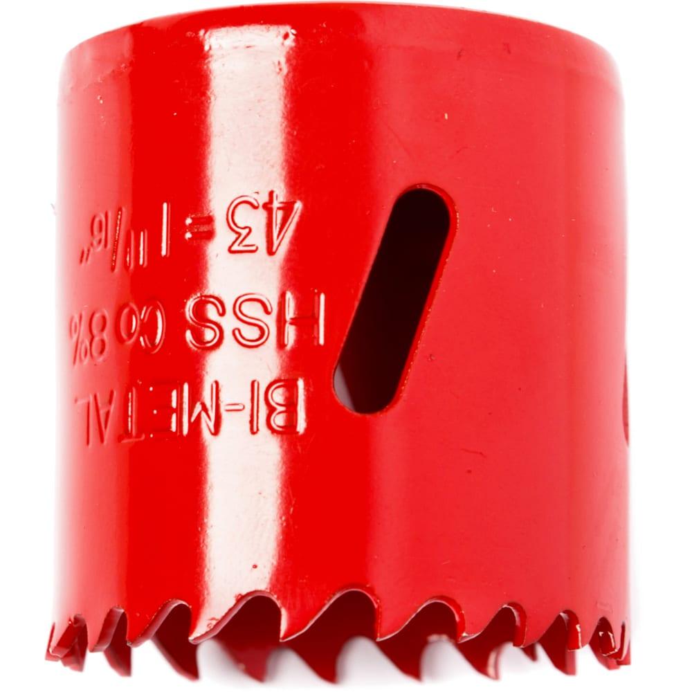 Коронка биметаллическая 43 мм redverg 6627107