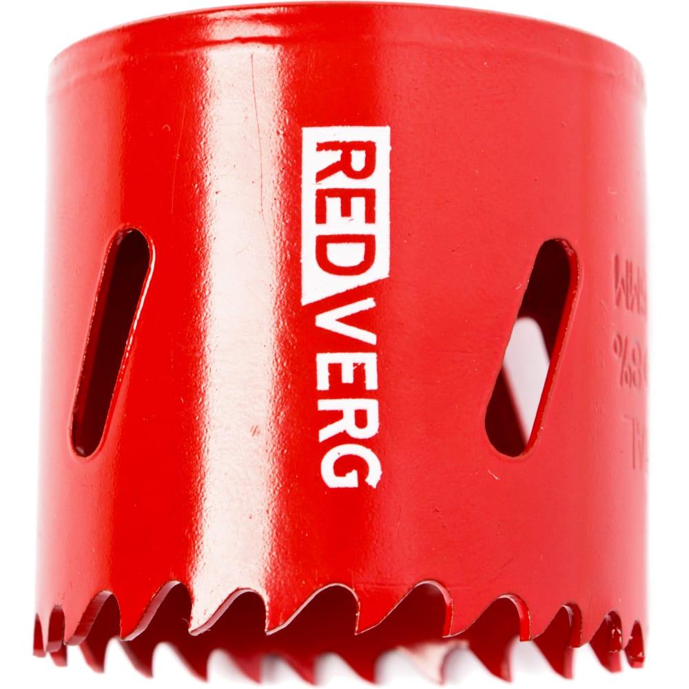 Коронка биметаллическая 46 мм redverg 6627109