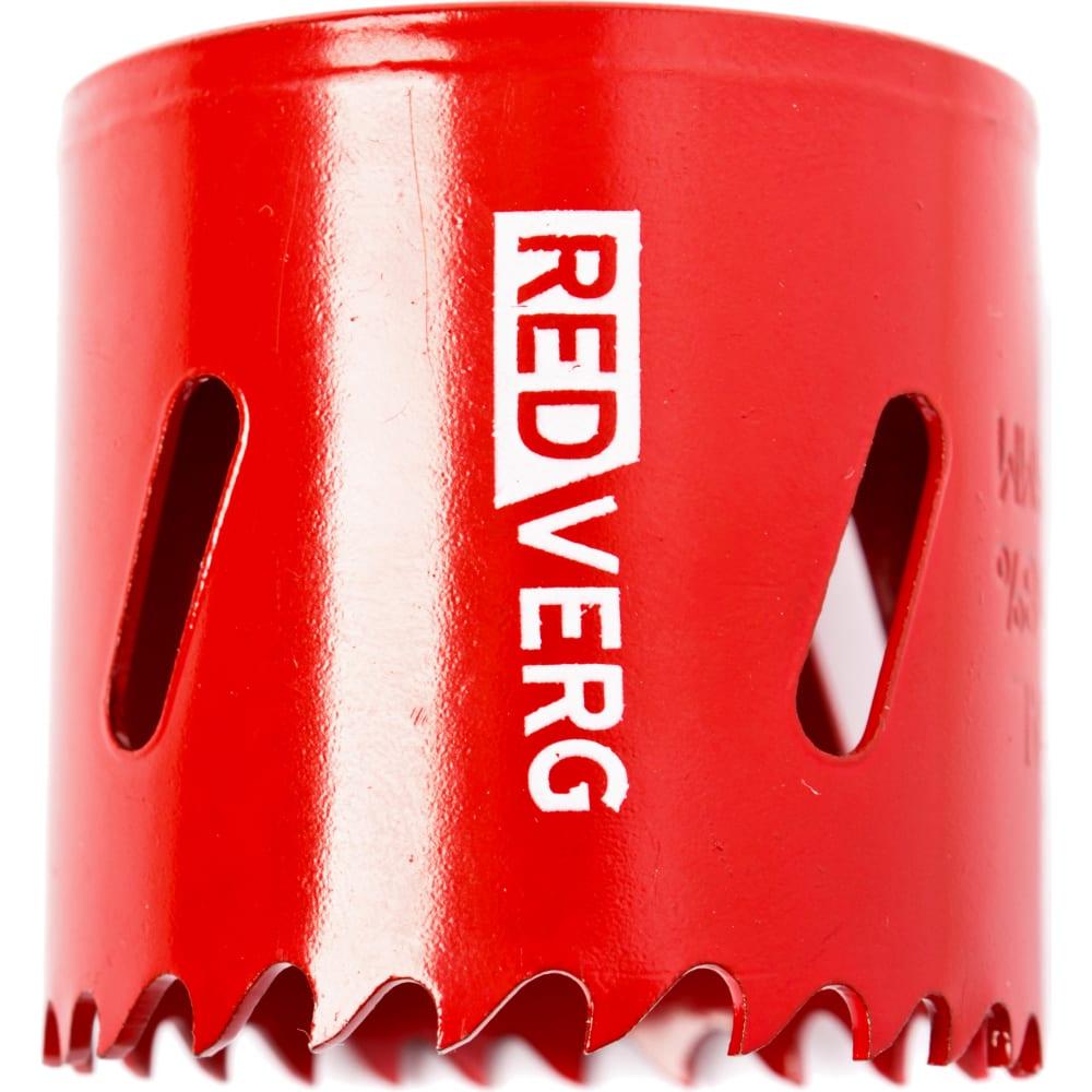 Коронка биметаллическая 48 мм redverg 6627110
