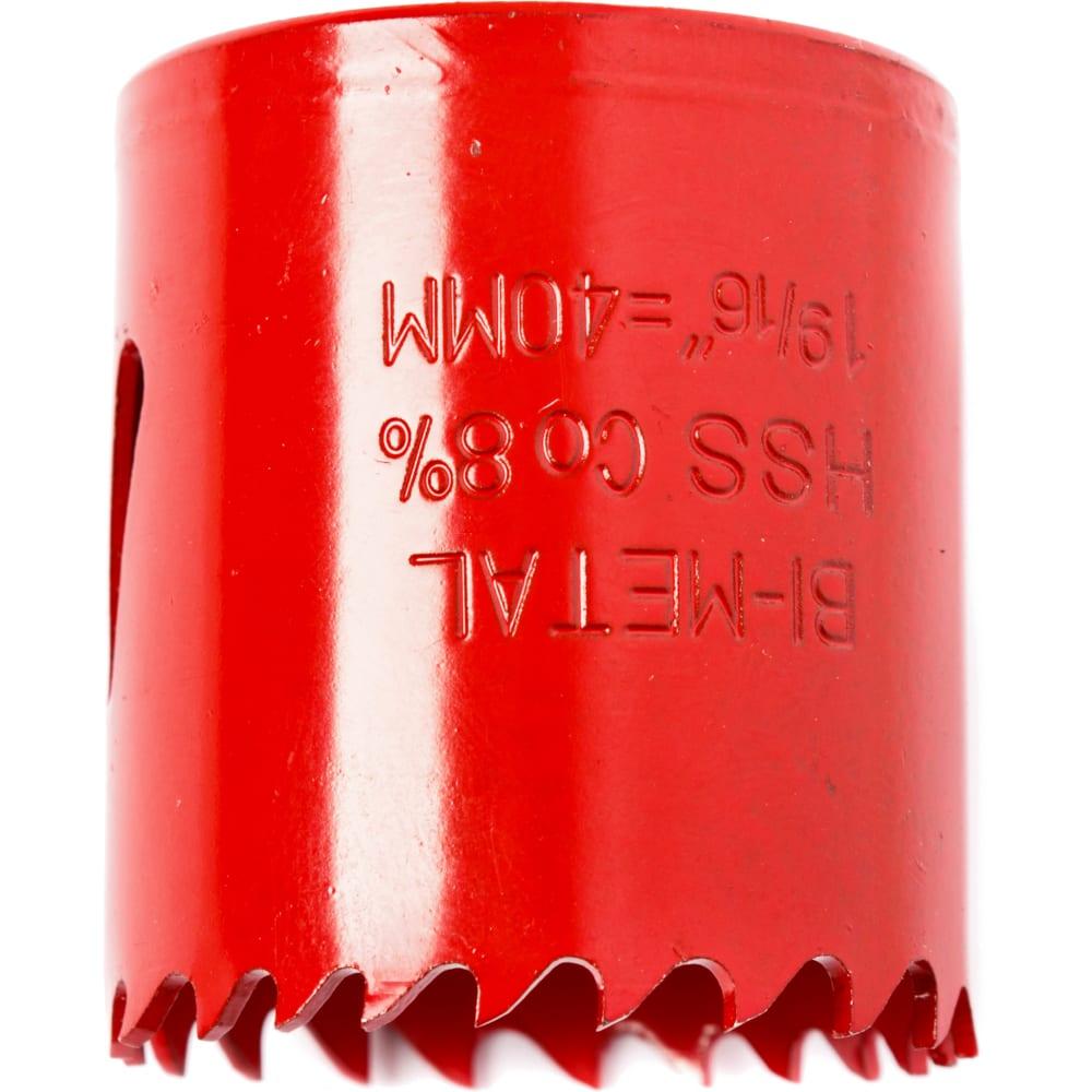 Коронка биметаллическая 40 мм redverg 6627106