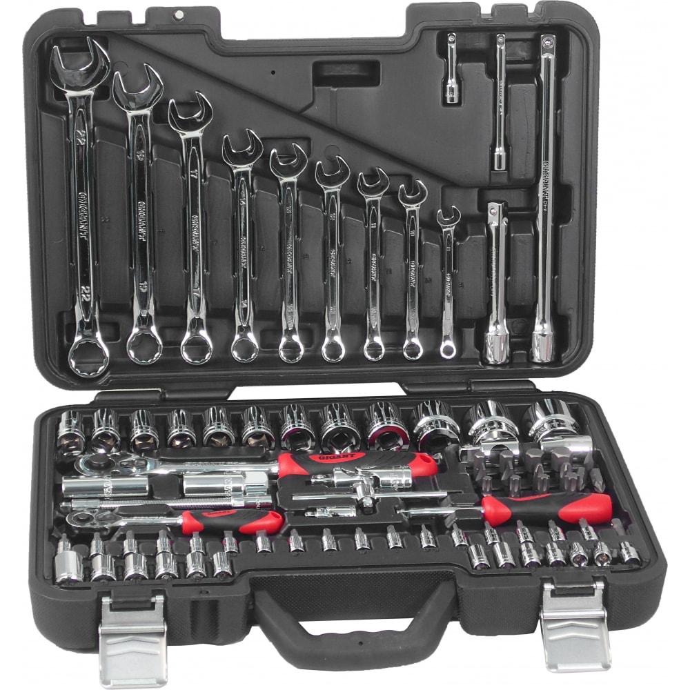 Набор инструментов gigant professional 1/2 и 1/4 82 предмета gps 82.