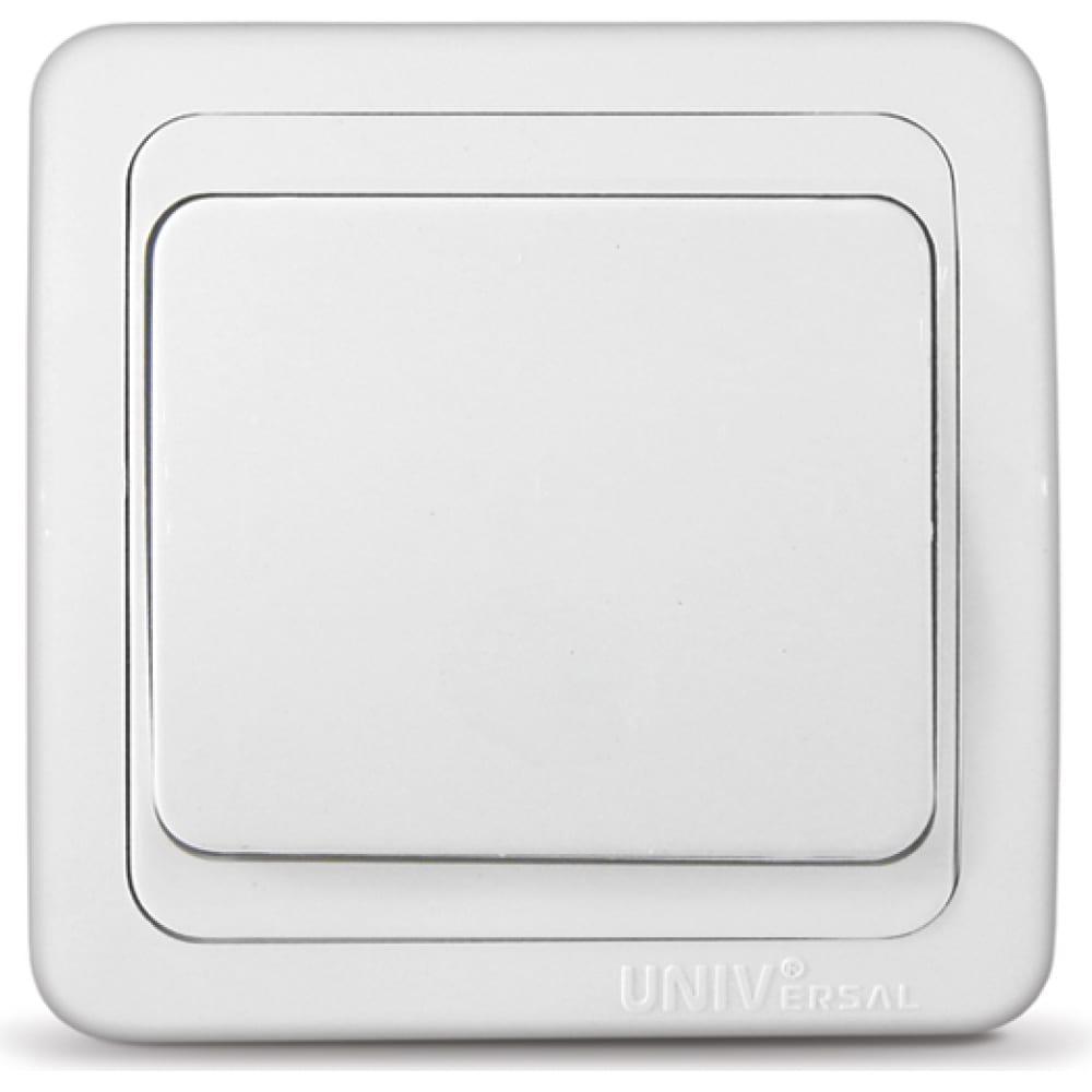 Выключатель universal валери белый в0021