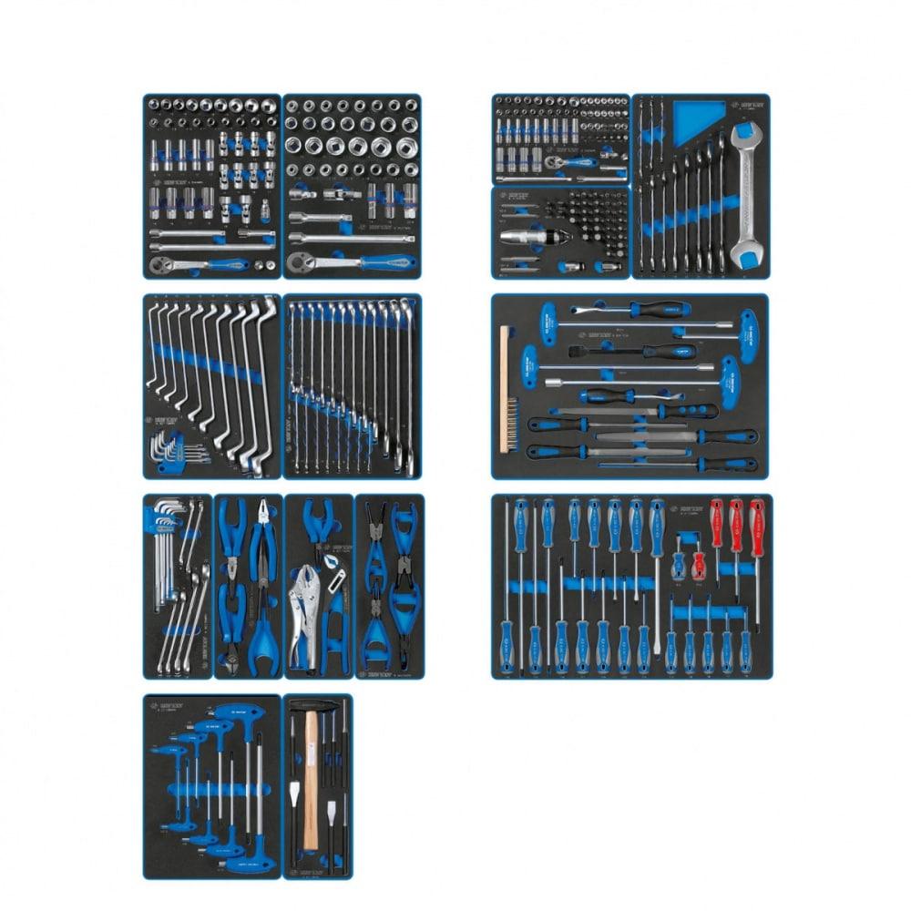 Набор инструментов для тележки 15 ложементов 325 предметов king tony board 934-325mrvd.