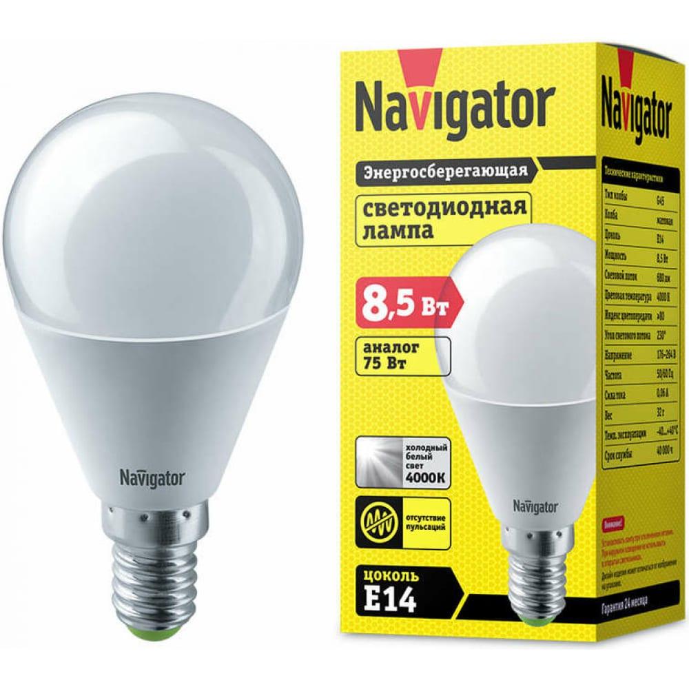 Купить Светодиодная лампа navigator 61 334 nll-g45-8.5-230-4к-e14 61334 476072