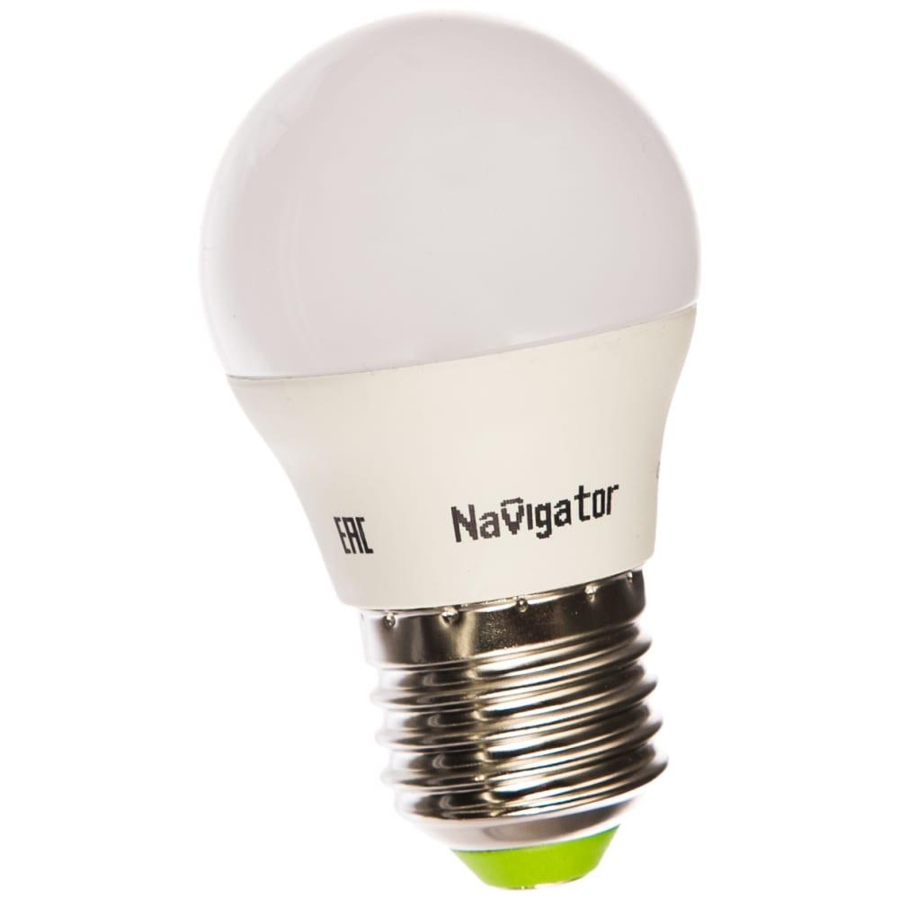 Светодиодная лампа navigator 94 469 nll-g45-7-230-4k-e27 7вт шар 4000к 176-264в 94469 300233