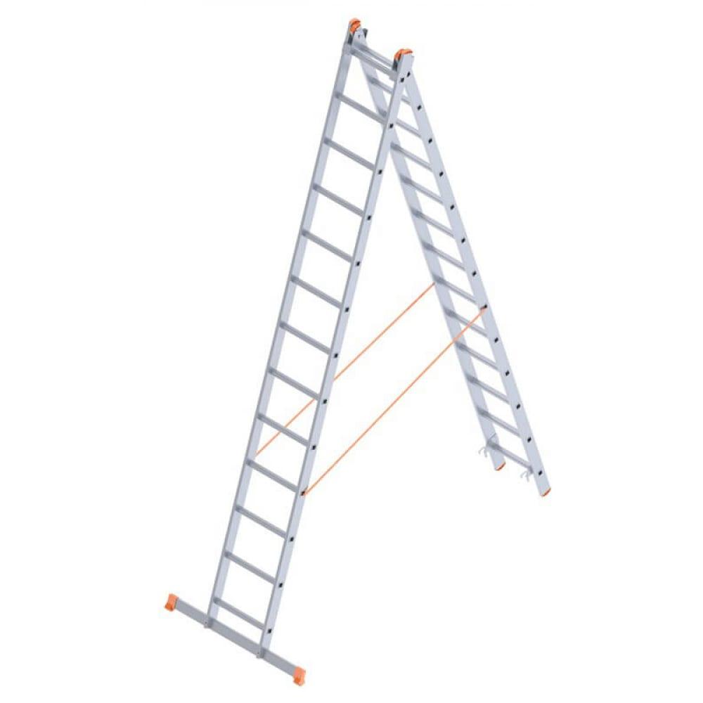 Алюминиевая лестница промышленник 2x13 4213