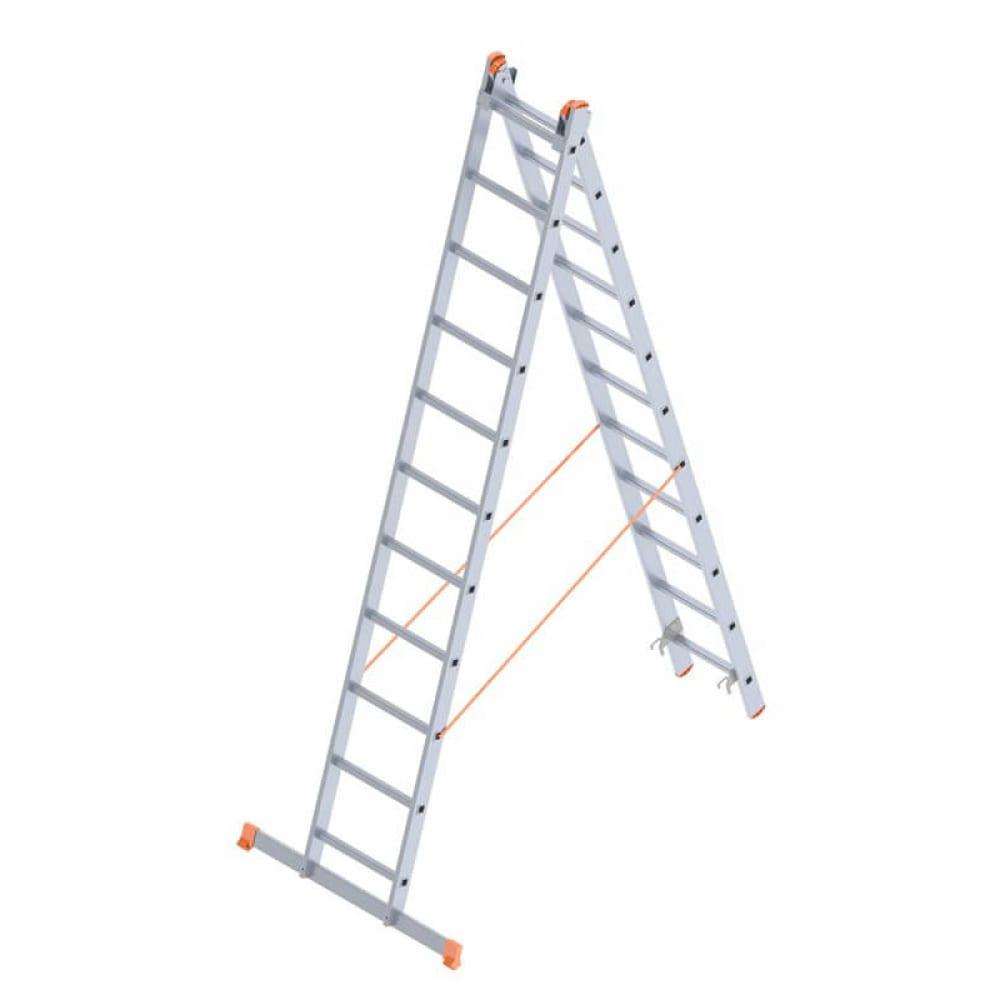 Алюминиевая лестница промышленник 2x11 4211