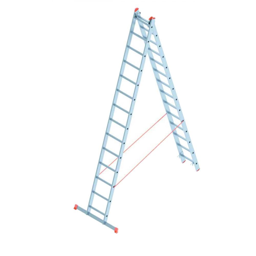 Алюминиевая лестница промышленник 2x14 4214