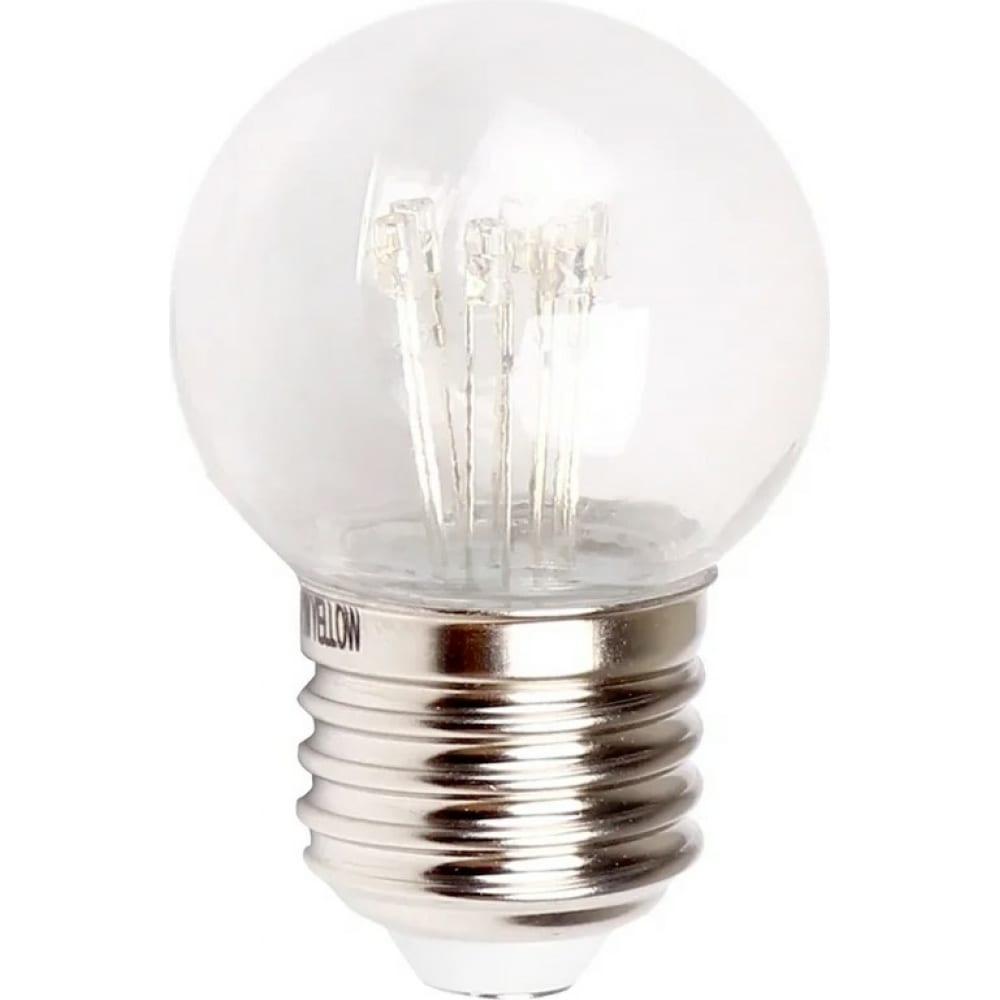 Светодиодная лампа-шар для украшения neon-night диаметр 45 мм, цоколь e27, 6 led, 1 вт розовая 405-127  - купить со скидкой