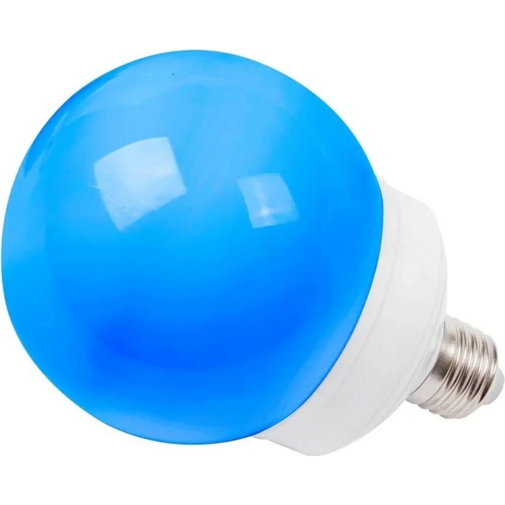 Купить Светодиодная лампа-шар для украшения neon-night диаметр 100 мм, цоколь e27, 12 led, 2 вт, синяя 405-133
