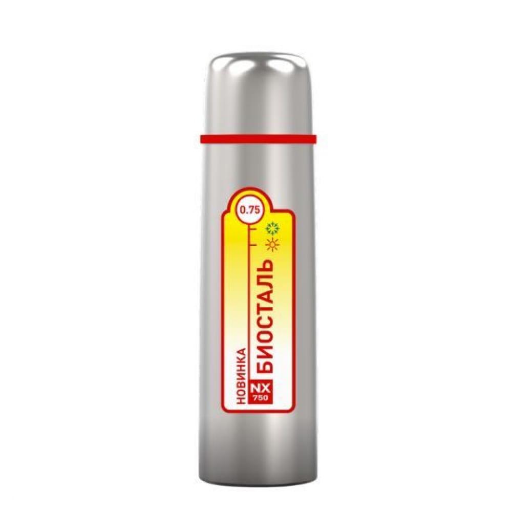 Термос biostal 0.75 литра, стальной nx 750