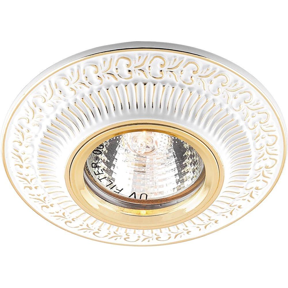 Купить Встраиваемый потолочный светильник feron mr16 g5.3 белый золотой, dl6240 28884