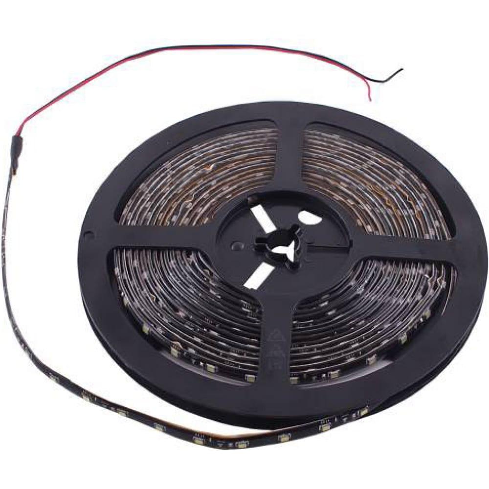 Светодиодная лента skyway 500см, 300 smd диодов 3528 белая(катушка) черная основа s03201030  - купить со скидкой