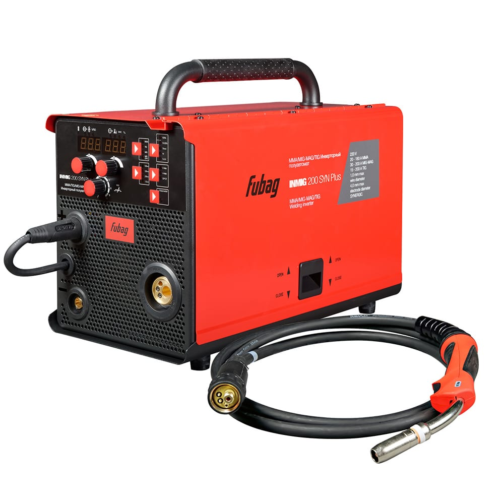 Сварочный полуавтомат инвертор fubag inmig 200 syn plus 31434 + горелка fb 250 3 м 38443 31434.1