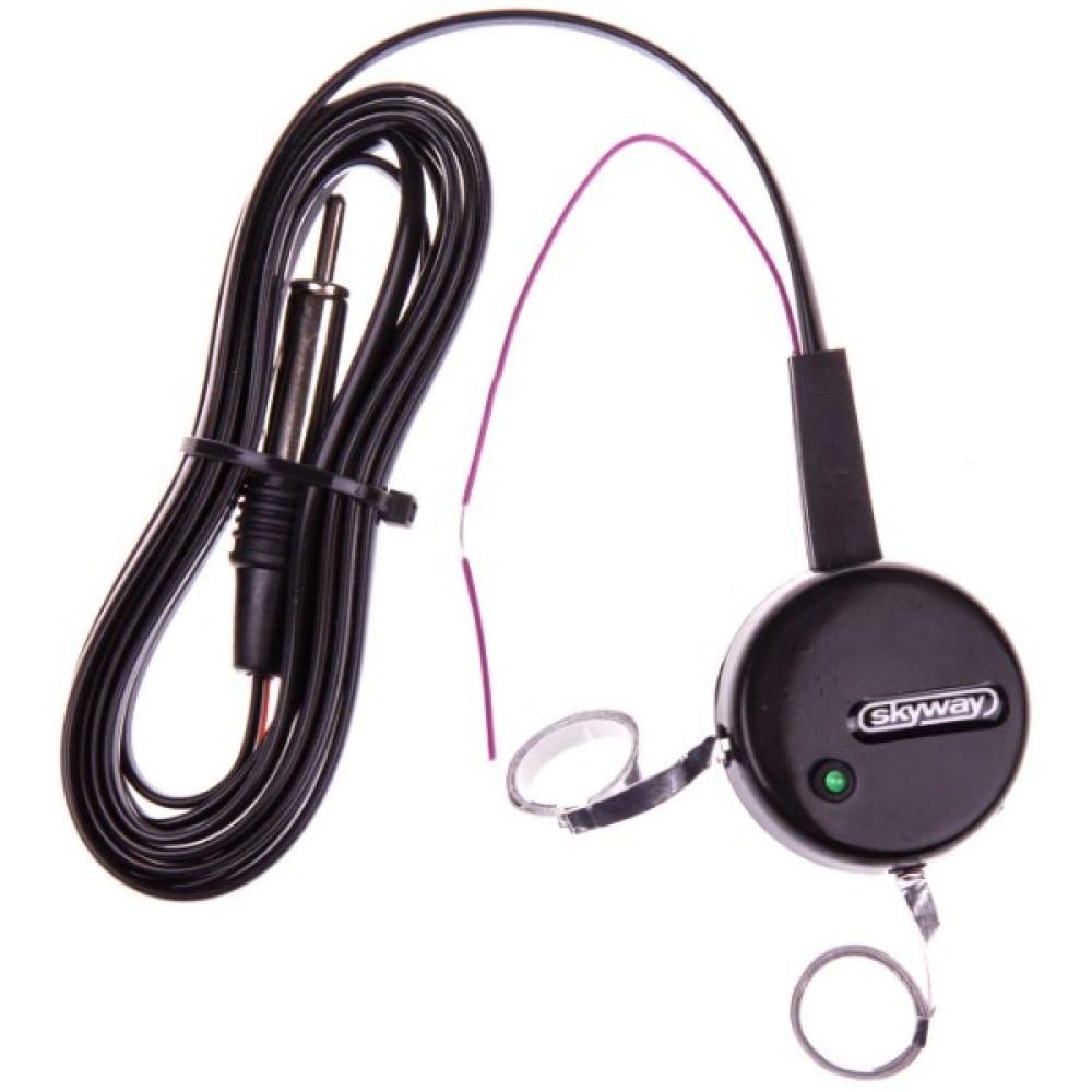Купить Активная внутрисалонная антенна skyway beta круглая, тонкое полотно, два уса, кабель 2.2м, черный s00203002