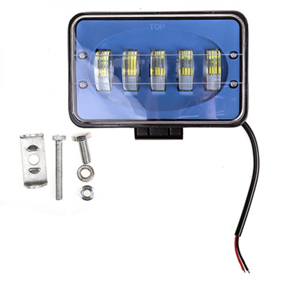 Купить Прямоугольная светодиодная фара skyway off road 12v/24v 51w 6000к 5 диодов дальний свет s07201068