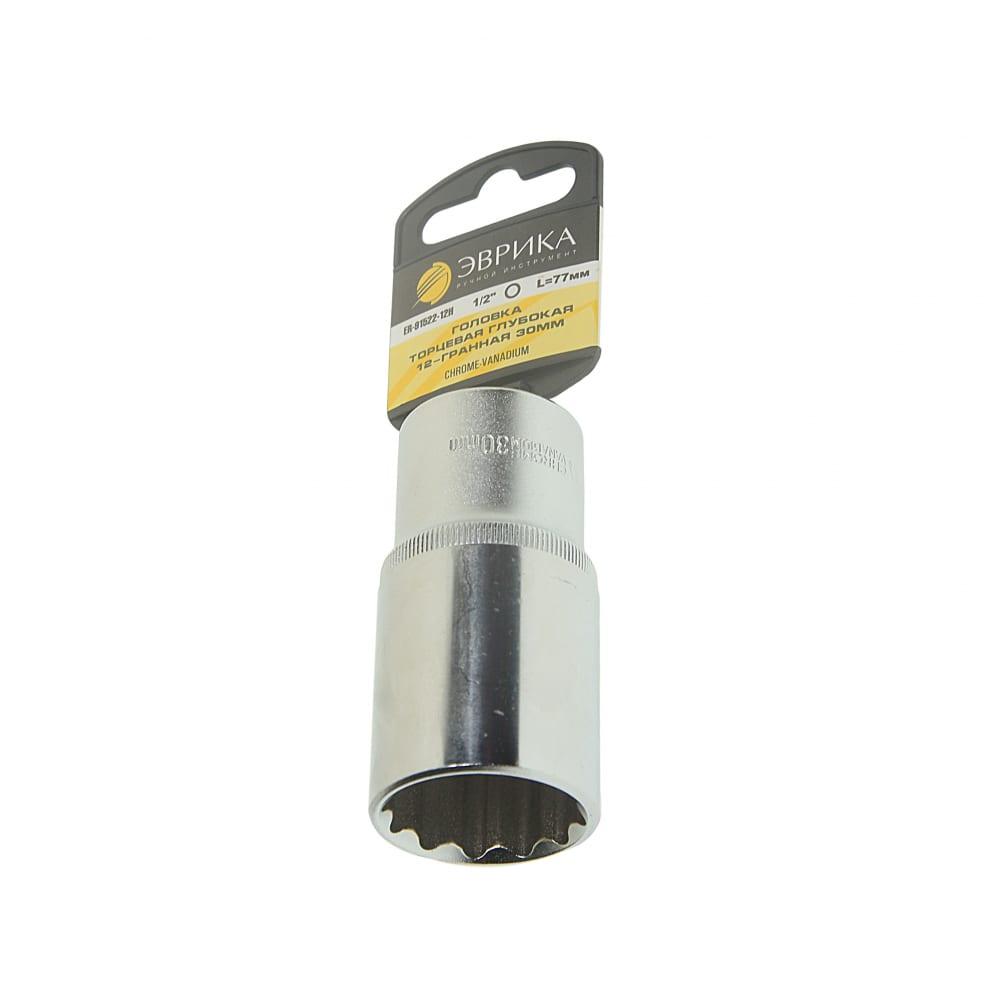Купить Головка торцевая 12-гранная глубокая (30 мм; 80 мм; 1/2 ) с держателем эврика er-91522-12h