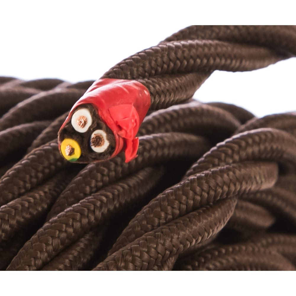 Витой провод electraline 3х1,5 коричневый в1-434-72-20