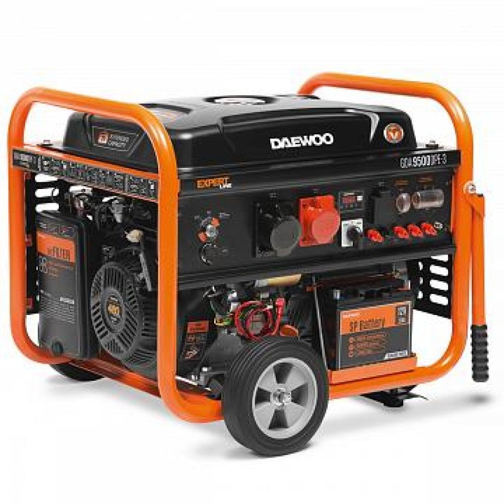 Бензиновый генератор с возможностью подключения ats daewoo gda 9500dpe-3