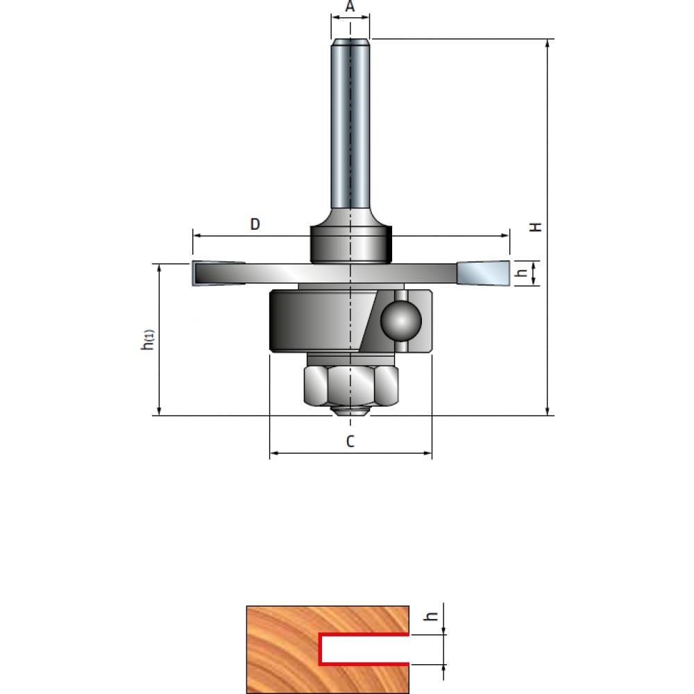 Купить Фреза пазовая трехлучевая с подшипником (50.8х2.5 мм; хвостовик 6 мм) freud pro 63-11306