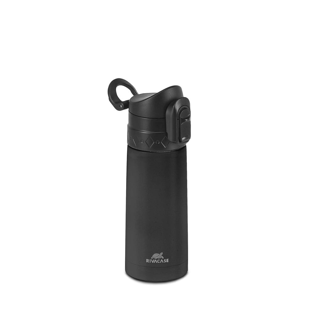 Термос rivacase bk vacuum flask black, 0.35л