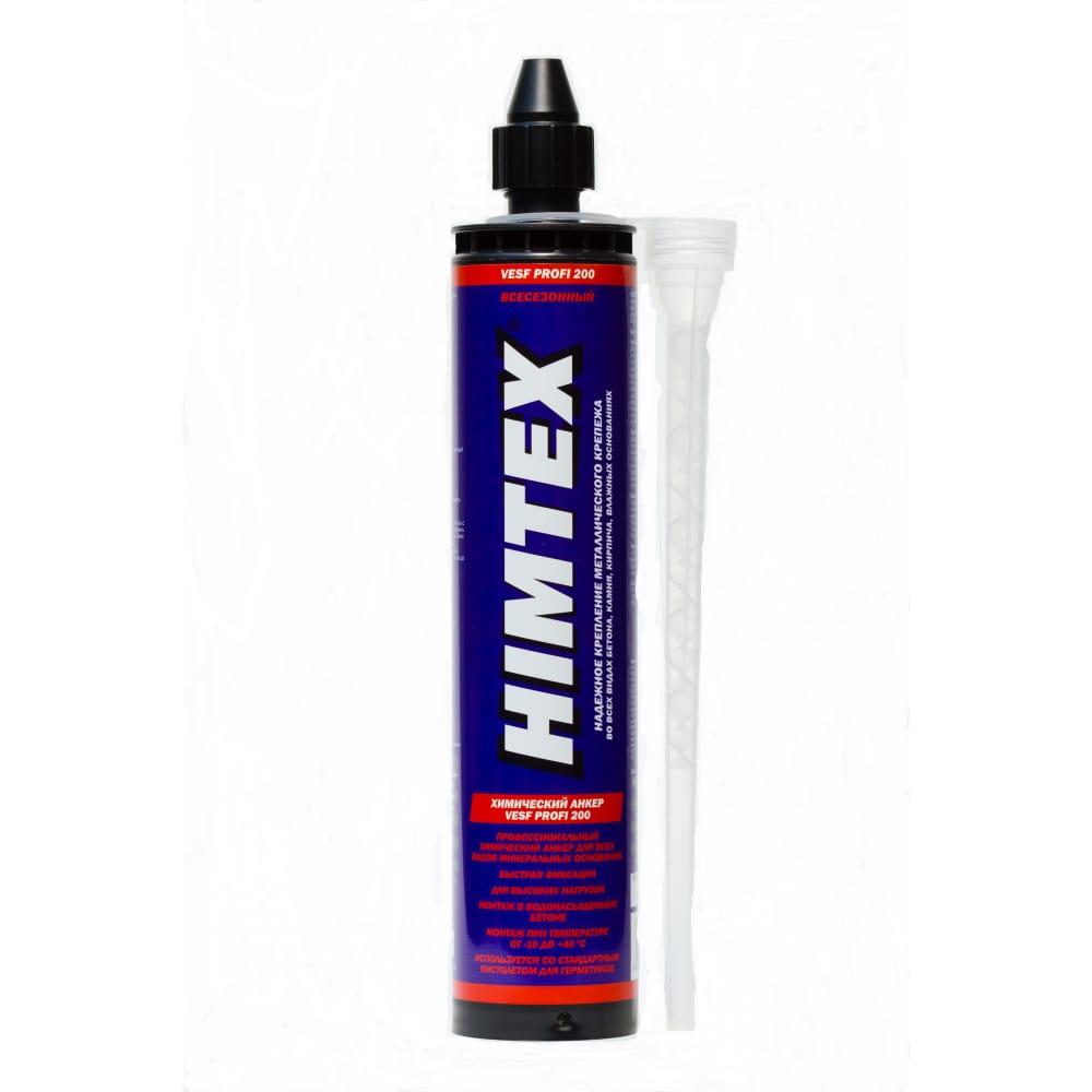 Купить Всесезонный химический анкер himtex vesf profi 200 400 мл для любого бетона, кирпича + 1 насадка can200400