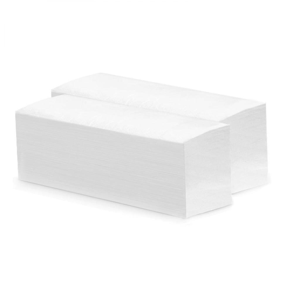 Купить Листовые бумажные полотенца merida 2-слойные белые v-top 4000 20 пачек х 200 листов бп15