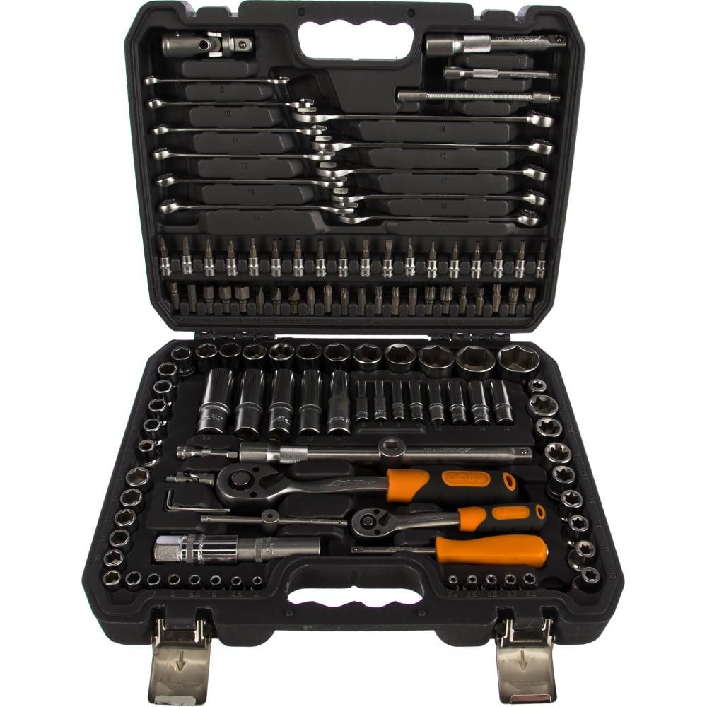 Купить Универсальный набор инструментов 125 предметов, серый пластиковый кейс airline at-125-40