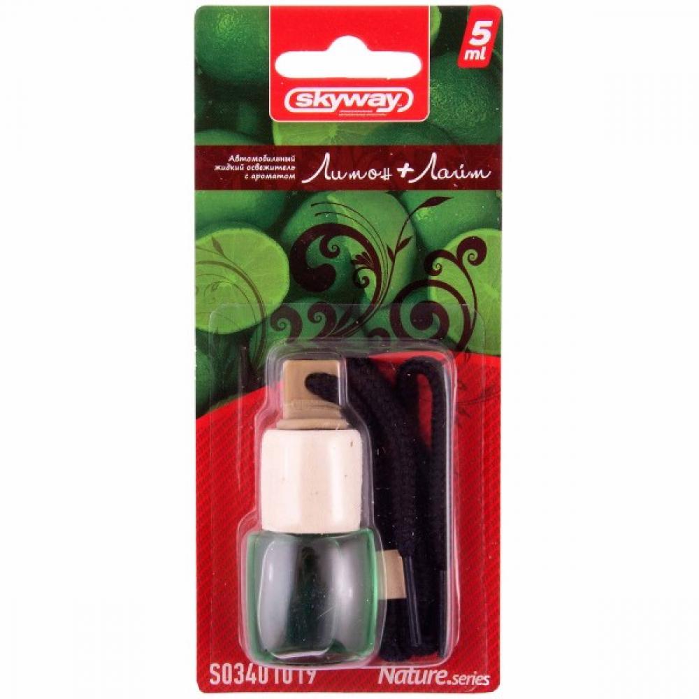 Купить Подвесной ароматизатор - бутылочка с деревянной крышкой skyway nature.series 5 мл s03401019