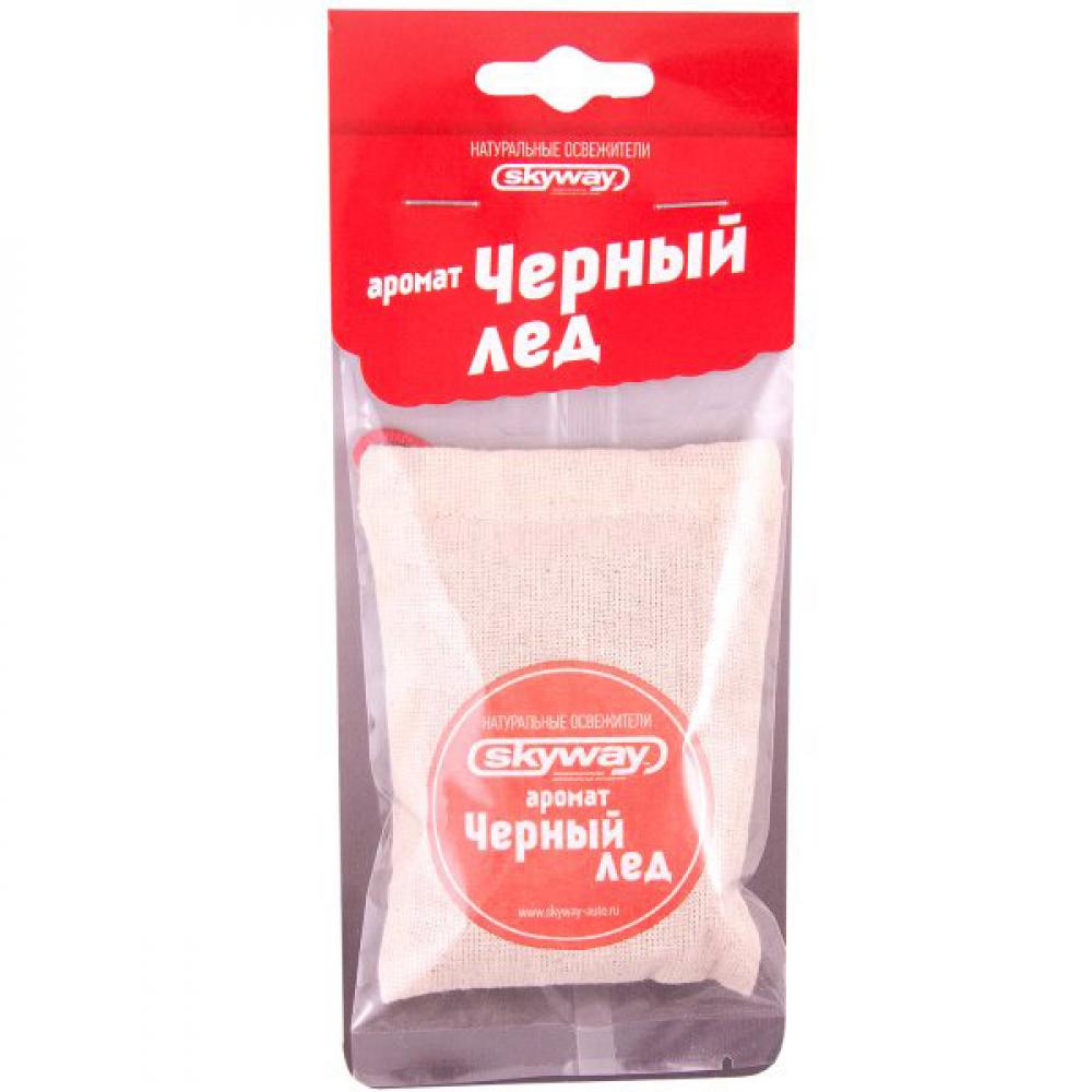 Подвесной ароматизатор - мешочек skyway черный лед s03407008  - купить со скидкой