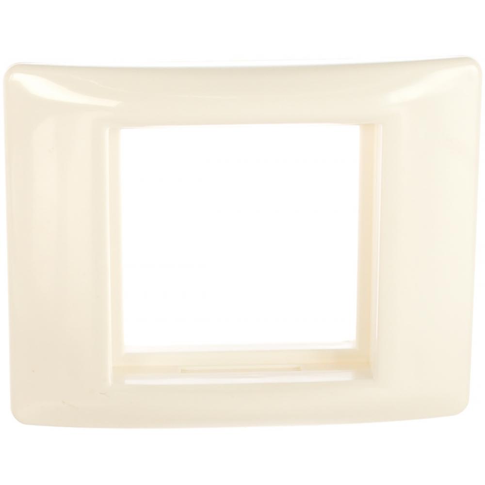 Рамка 1-м с суппортом на 2 модуля iek праймер белый иэк ckk-40d-ru2-k01  - купить со скидкой