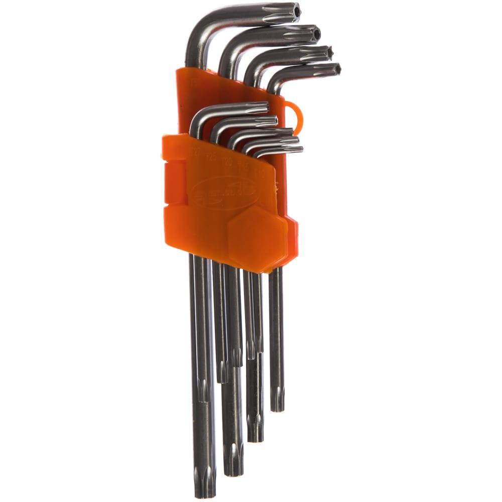 Купить Набор г-образных ключей torx 9шт t10-t50 с отверстием автоdело 39151 11739