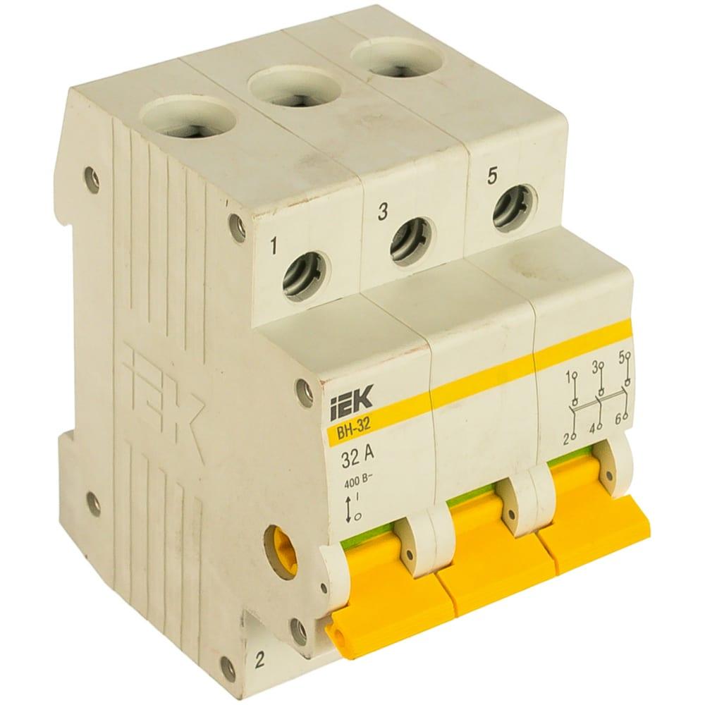 Выключатель нагрузки iek вн-32 32а/3п иэк mnv10-3-032