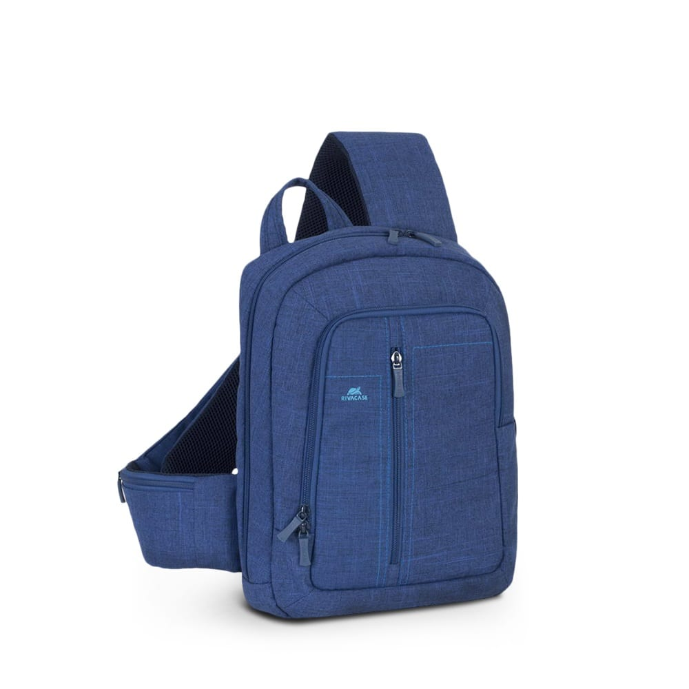Рюкзак rivacase laptop canvas sling backpack blue,