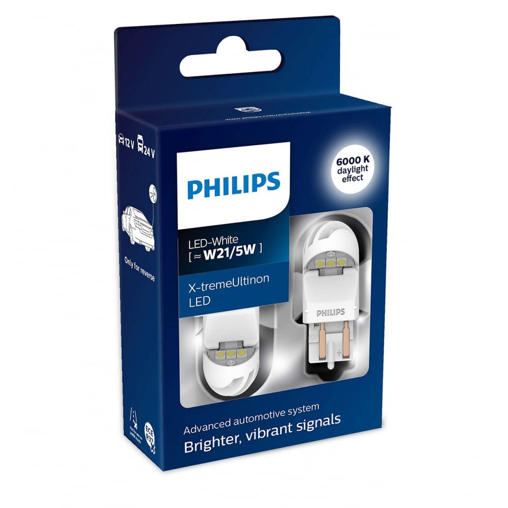 Автолампа philips w21/5 white x tremeultinon