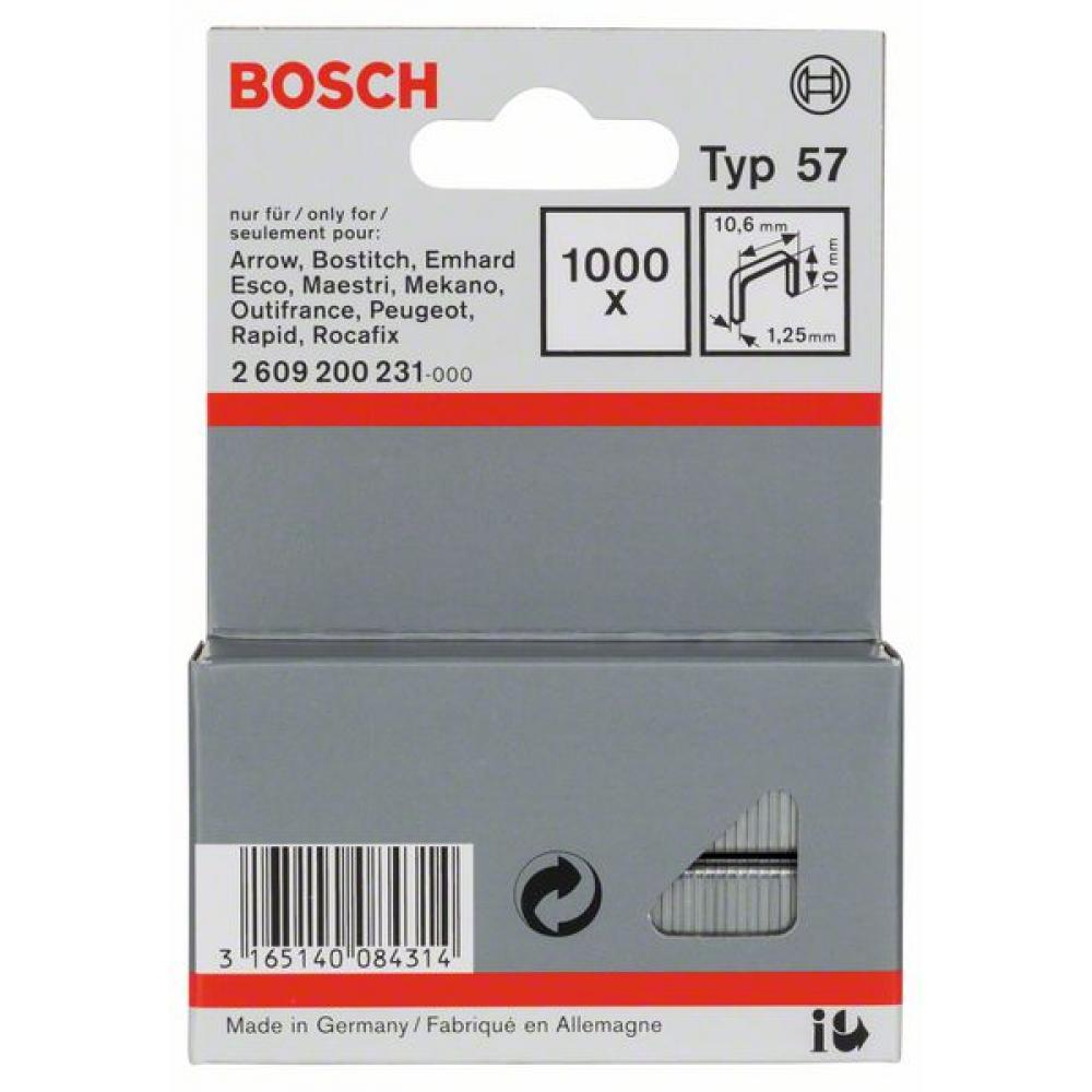 Скоба для степлера (тип 57; 1000 шт.) bosch 2609200231