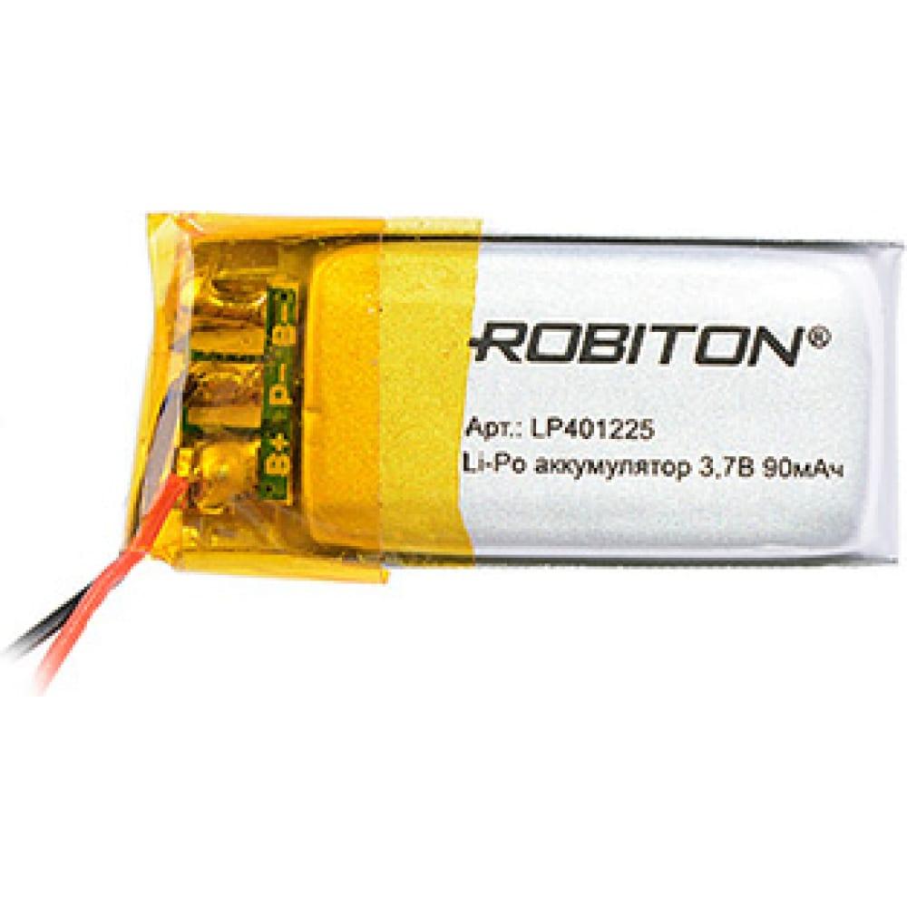 Купить Аккумулятор robiton lp401225 3.7в 90mah pk1 14062