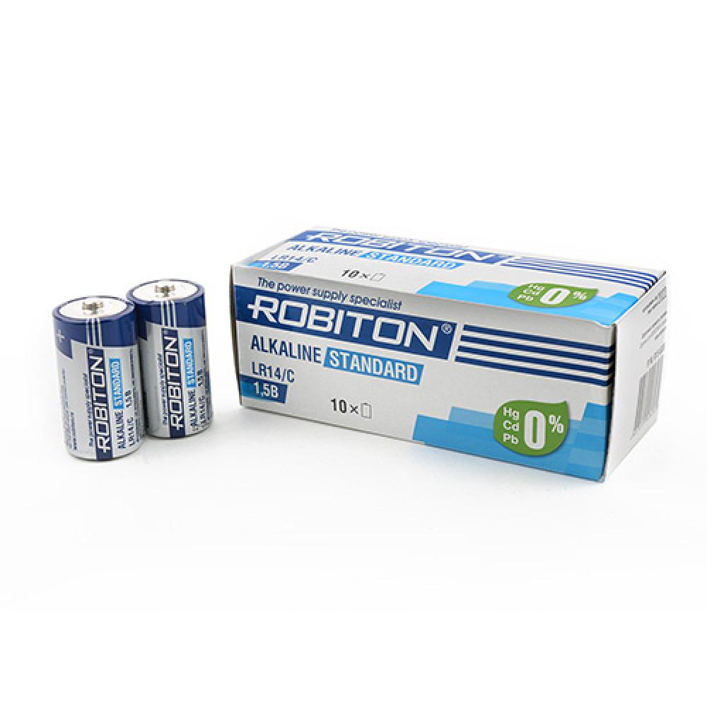 Купить Элемент питания robiton standard lr14 bulk10, в упаковке 10 шт 13984