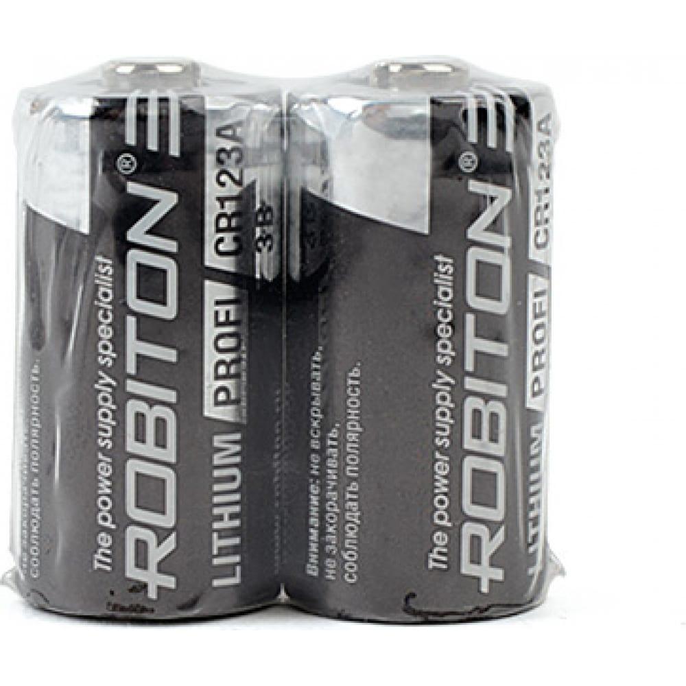 Купить Элемент питания robiton profi r-cr123a-sr2 cr123a sr2, в упаковке 2 шт 13686